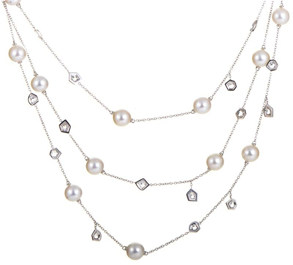 Mimi pearl and diamond necklace