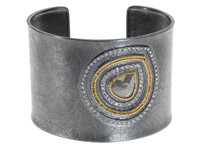 Todd Reed gray fancy diamond cuff bracelet