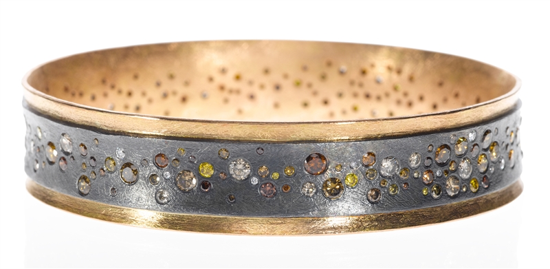 Todd Reed autumn colors diamond bangle