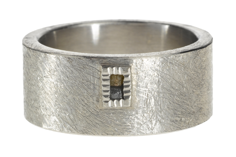 Todd Reed men's palladium raw diamond band