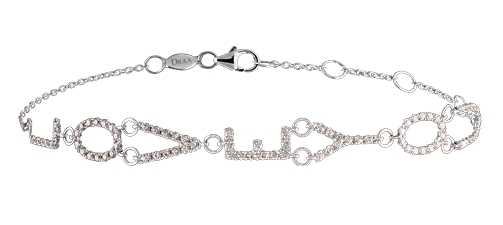Djula I Love You diamond bracelet