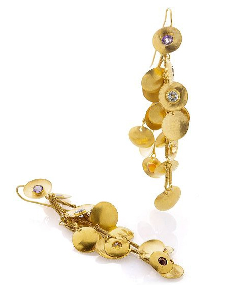 Bahina Jewels Gold Rush earrings