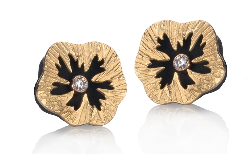 Sarah Graham Sea Urchin large stud earrings
