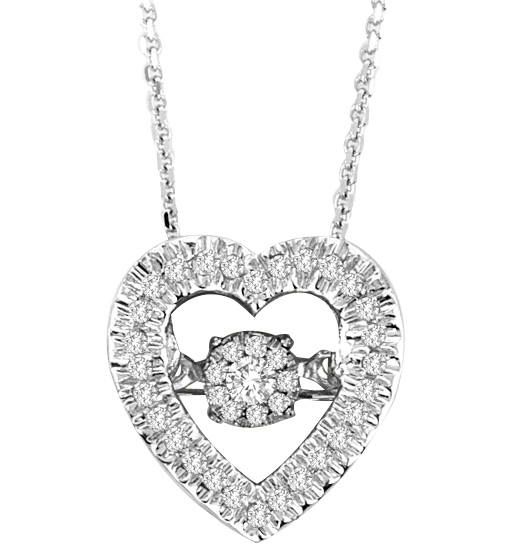 Dinaro Creations Dancing Diamond heart pendant