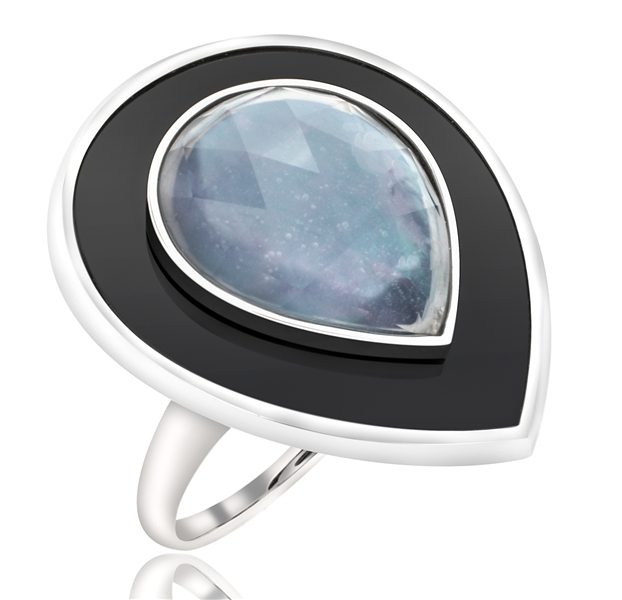 Sophia by Design Droplet rock crystal ring