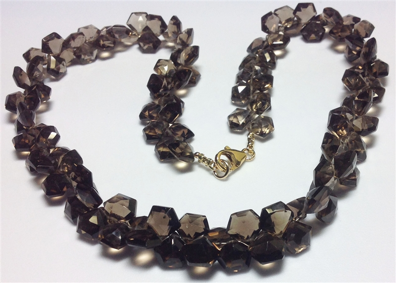 AYS International smoky quartz necklace