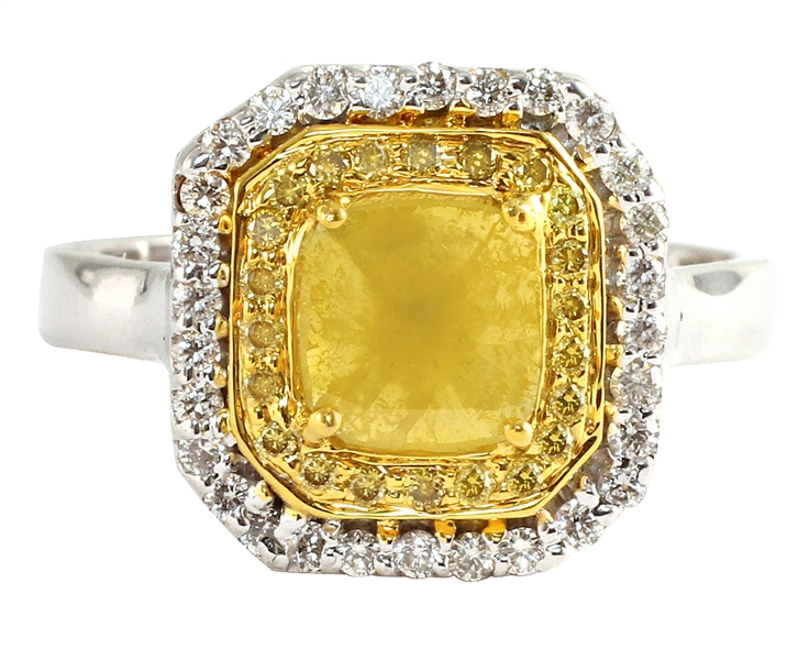 VIVAAN natural yellow diamond ring