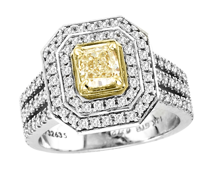 SimplexDiam fancy yellow diamond ring