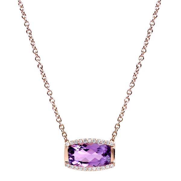 Jane Taylor Jewelry small baguette amethyst necklace