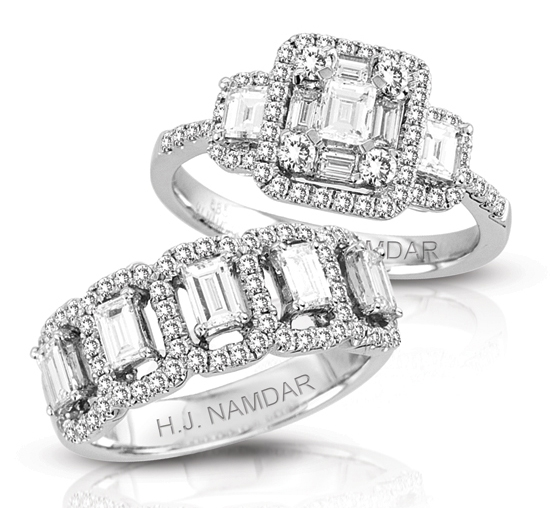 HJ Namdar signature collection diamond engagement rings