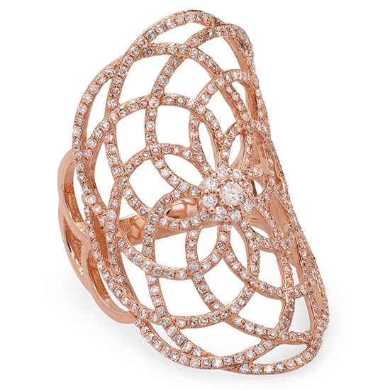 Shy Creation diamond lace statement ring