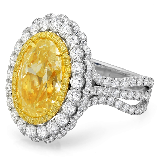 Shy cReation convertible fancy yellow diamond ring