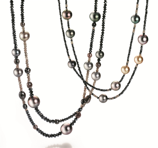 Gellner diamond and pearl necklaces
