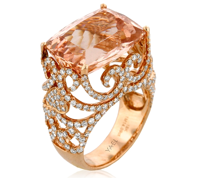Yael Designs Baroness morganite ring