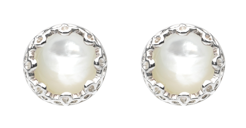 Kit Heath Elegance mother-of-pearl earrings