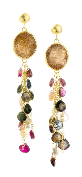 Nina Nguyen drusy multicolor Mia earrings