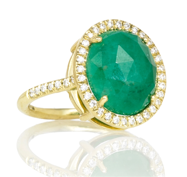 Lauren K emerald Mischa ring