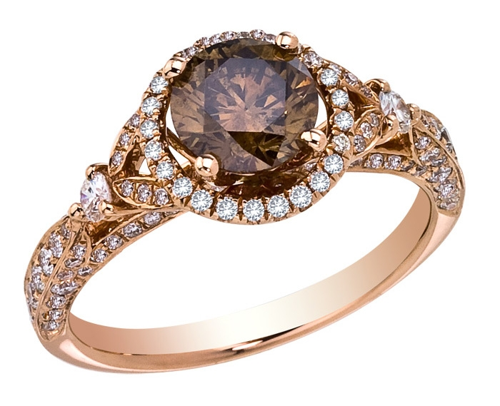 engagement halo diamond cushion cut rings ring champagne double brown