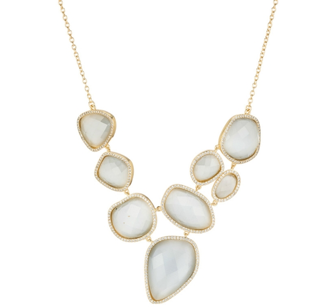 Marcia Moran cat's eye statement necklace