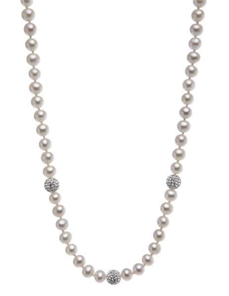 Nishi Pearls pearl and crystal bead strand