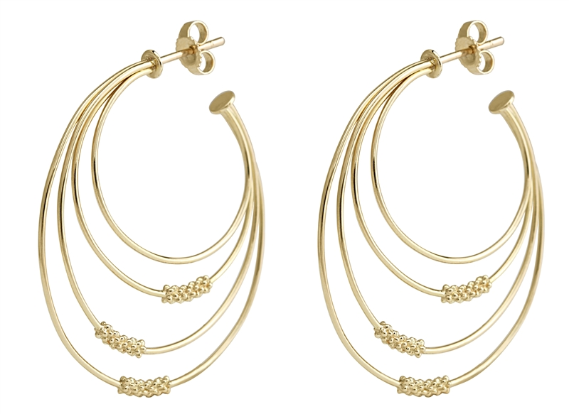 Lagos Covet gold hoop earrings