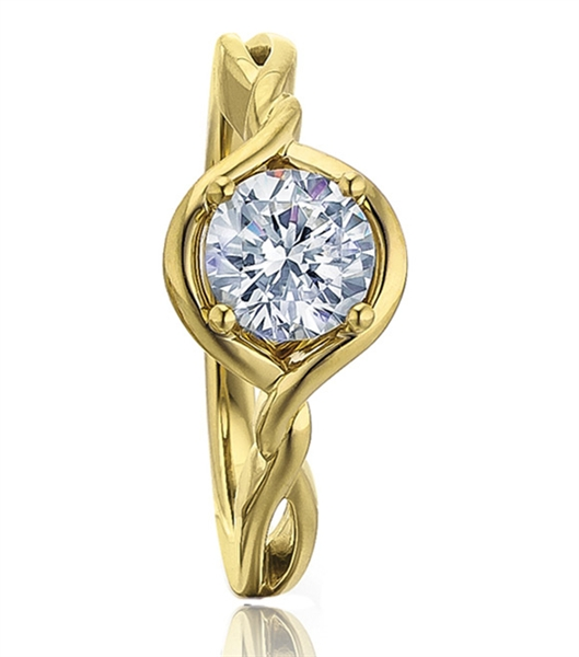 Frederic Sage Gold Twist engagement ring