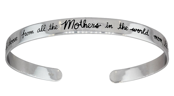 Elektra Designs Mothers Day cuff bracelet