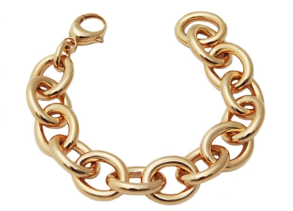 Old World Chain bold gold rolo bracelet