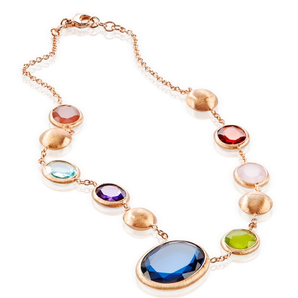 Momentoss Colore collection multicolor gem necklace