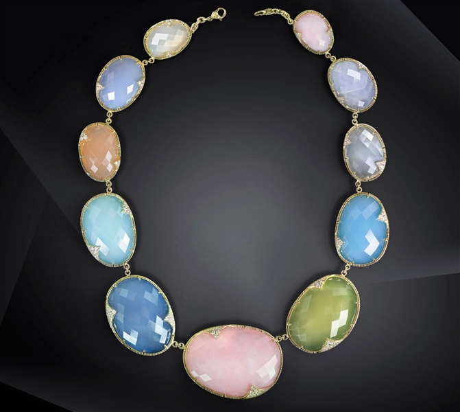 Judith Ripka multicolor Avalon necklace