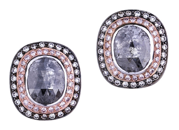 Sethi Couture black opaque diamond stud earrings