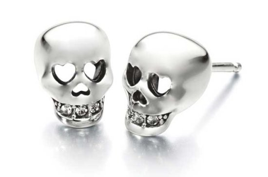 Chamilia Love You to Death skull earrings