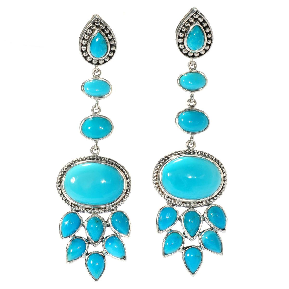 Samuel B Collection sleeping beauty turquoise earrings