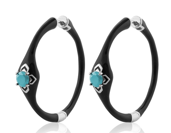 Lauren G Adams Starry Nights hoop earrings