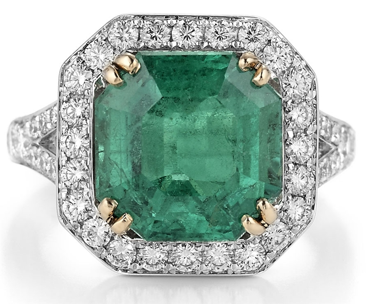 Aliva Gil 6 ct. Colombian emerald ring