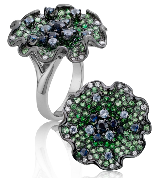 Artistry, Ltd Blue-Green Passion ring