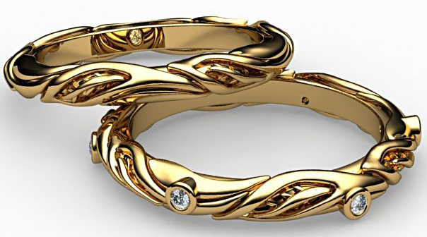 Conni Mainne stack collection gold bands