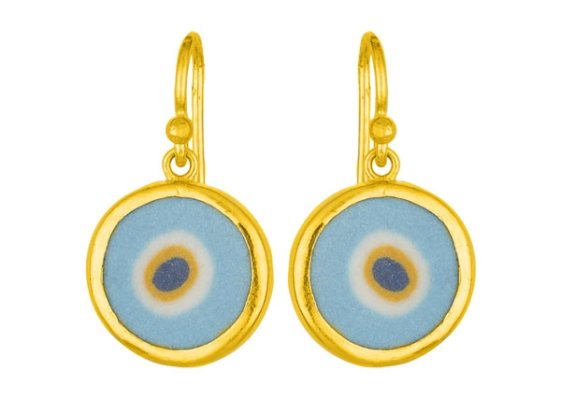 Cevherun Mucevherat Evil Eye earrings