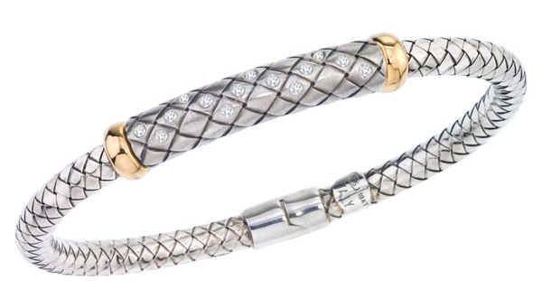 Alisa two-tone basketweave bangle