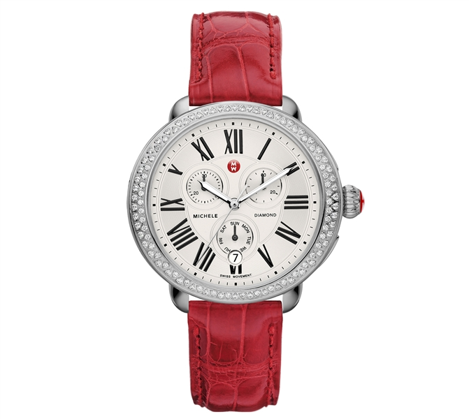 MICHELE Serein diamond red watch