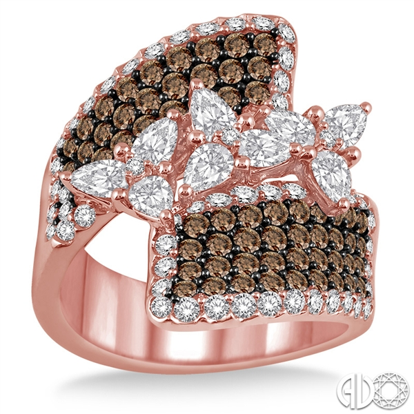 ASHI Diamonds brown diamond bypass ring