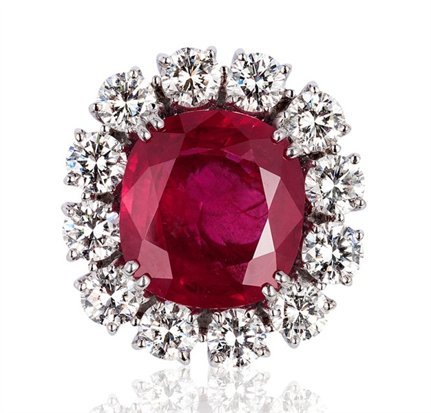 Andreoli 10 ct. Burmese ruby ring