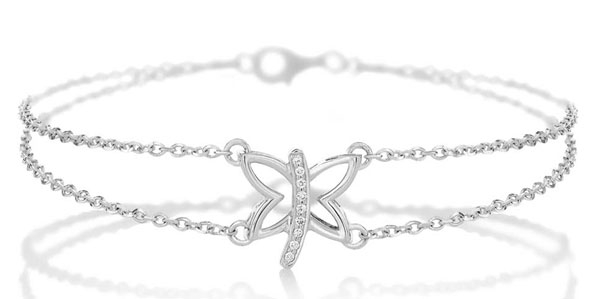 Gayubo butterfly diamond bracelet