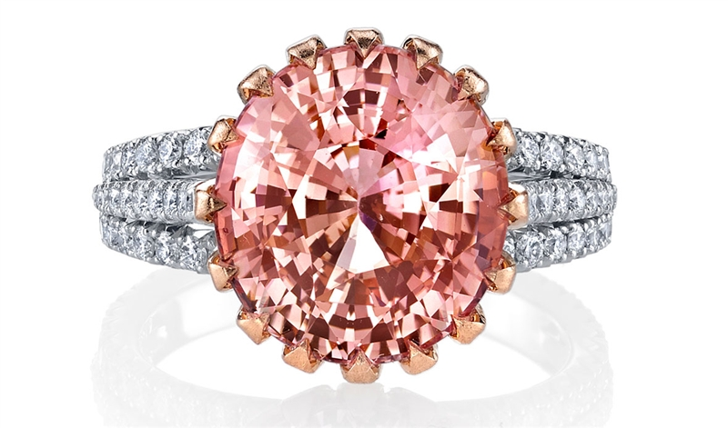 Omi Prive padparadscha ring
