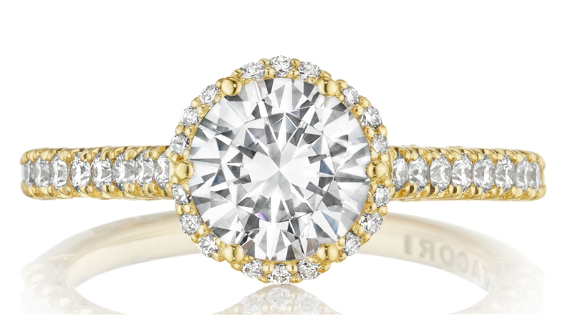 Tacori Gold diamond engagement ring