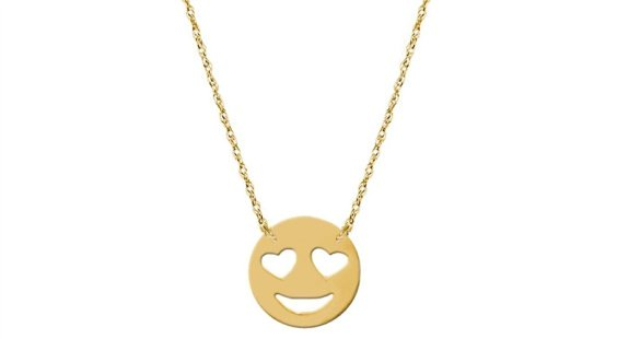 Jane Basch Designs Love Emoji necklace