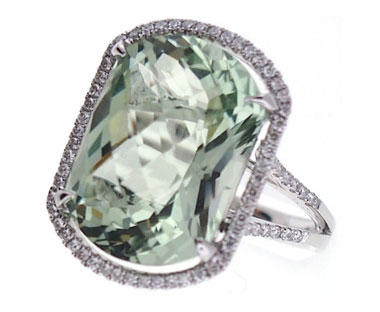 Pe Jay Creations green amethyst cocktail ring