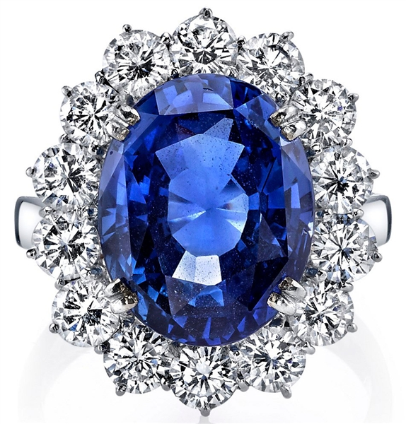 Joshua J oval sapphire and diamond ring