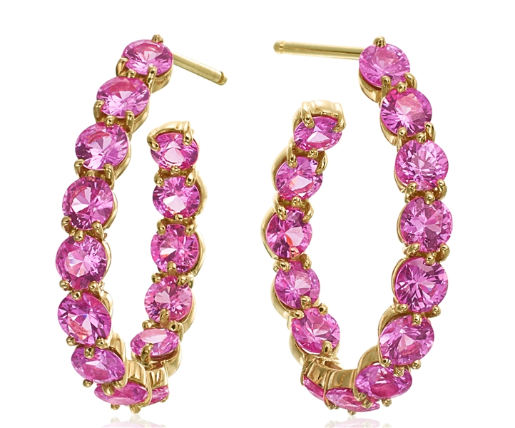 Gumuchian New Moon pink sapphire earrings
