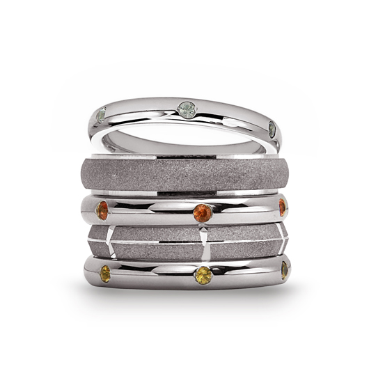Bands in Argentium silver from Stacked New York